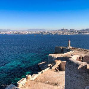 Vue de Marseille du Château d'If