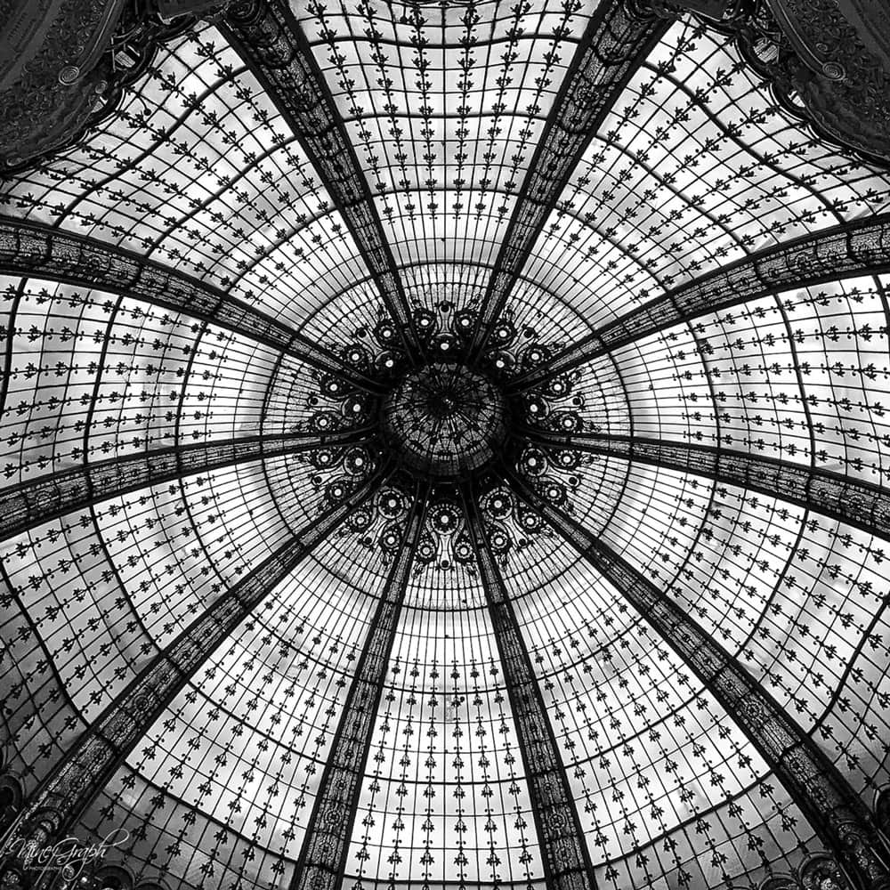 Monochrome, Coupole Galeries Lafayettes à Paris - Monochrome