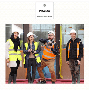 Prado Shopping à Marseille lors de la visite des travaux par les gagants du concours Instagram dont moi-même NineGraph