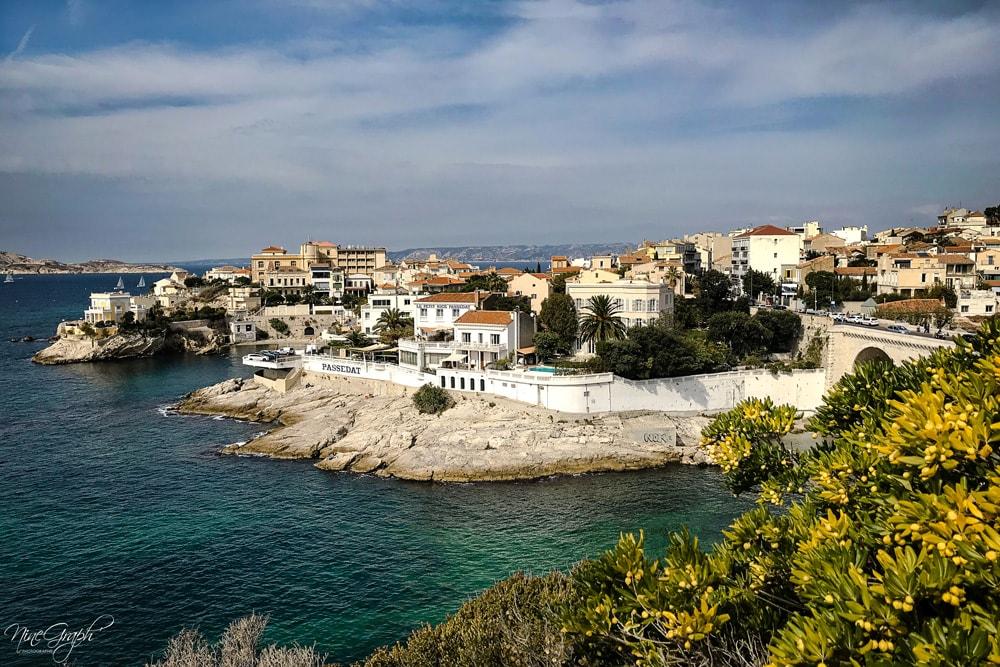 Anse de la Fausse Monnaie sur la corniche Kennedy à Marseille