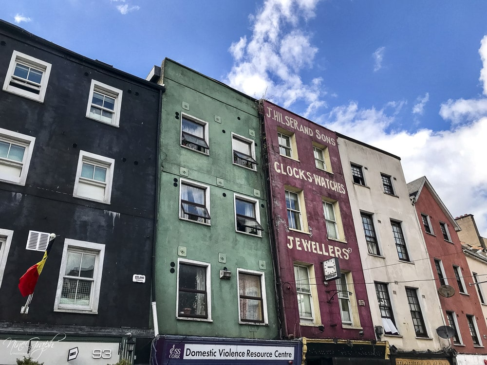 Façades à Cork, en Irlande, 2018