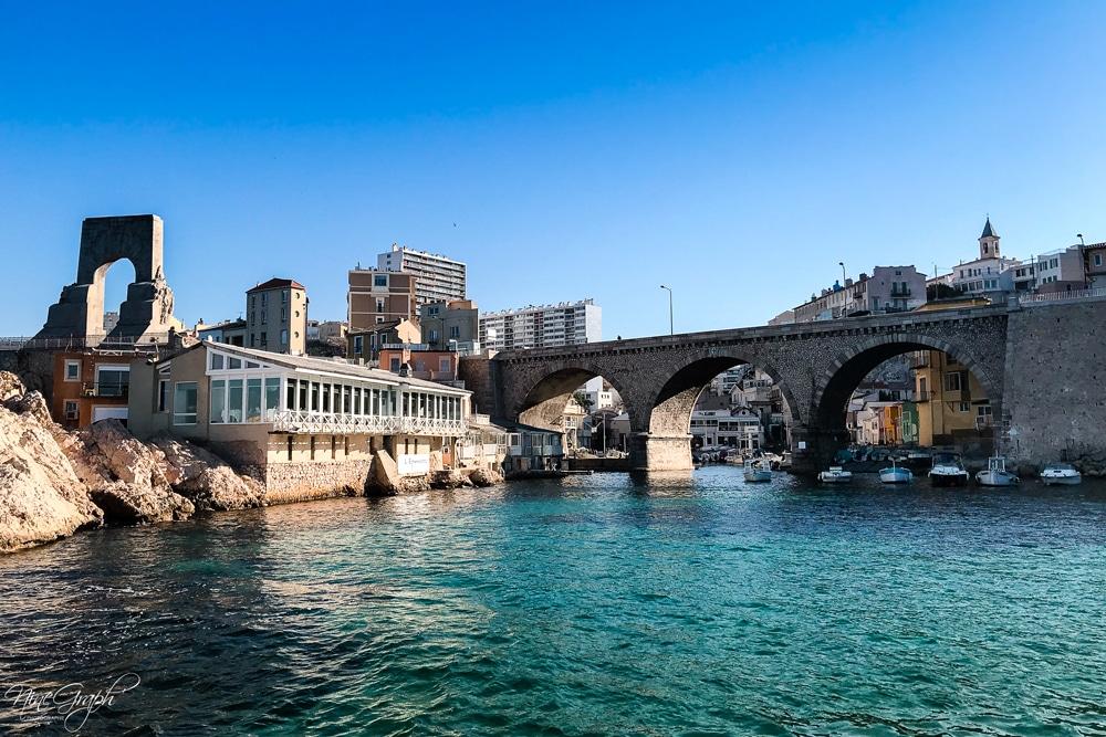 Vallon des Auffes, Marseille, vue de la mer