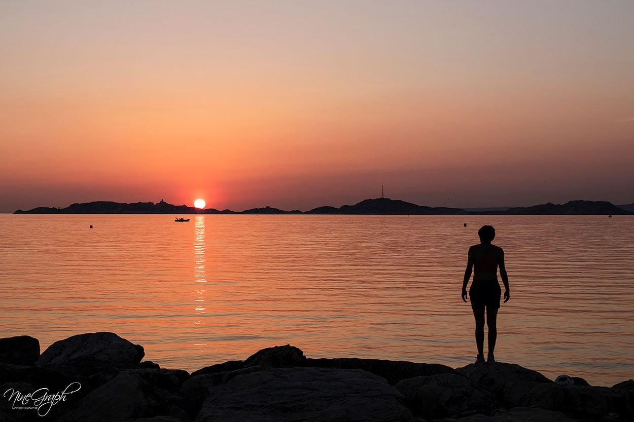 Coucher de soleil à Borely à Marseille