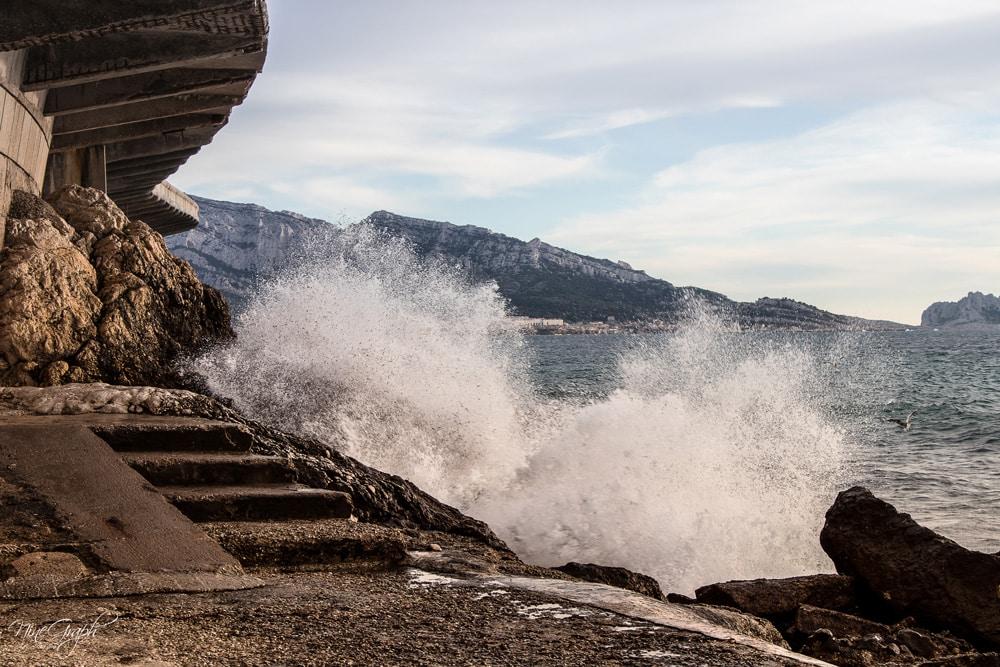 Le Prophète sur la corniche Kennedy à Marseille en hiver