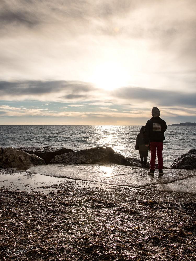 Minots au Prophète sur la corniche Kennedy à Marseille en hiver